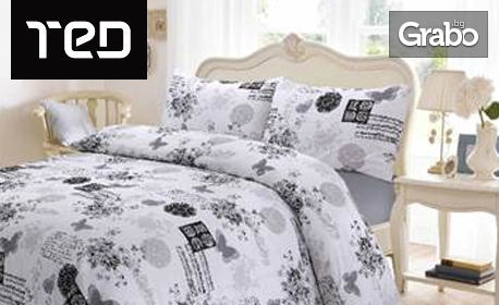 Спален комплект от ранфорс - десен и размер по избор