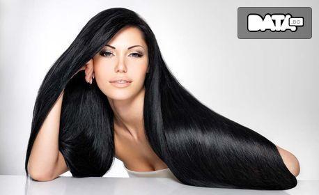 Кератинова терапия за коса със специална преса с пара и течен кератин - без или със подстригване