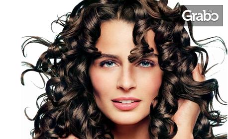 Кератинова терапия за коса - без или със подстригване, или боядисване, плюс прическа
