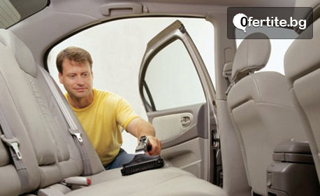 Пране на до 5 броя седалки на лек автомобил, плюс вътрешно почистване и бонус - чаша кафе