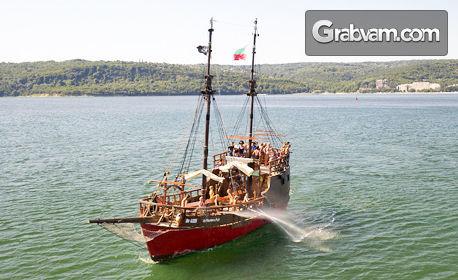60-минутна разходка с пиратска шхуна Арабела във Варненския залив и напитки - на 21 Август