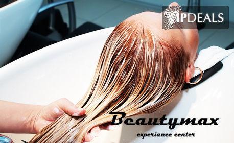 Красива коса с продукти Code Zero! Боядисване или терапия за изтощена коса Ecovexx, плюс прическа със сешоар или преса