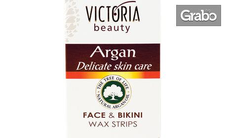 Депилиращи ленти Victoria Beauty - 20 броя за тяло и 20 броя за лице