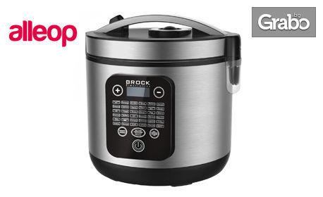 Мултикукър Brock с 36 програми за готвене, 5 литра вместимост, керамично покритие и безплатна доставка