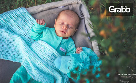 Фотосесия за новородено бебе - с 2 или 3 декора и обработка на кадрите