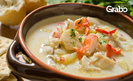 Супа и основно ястие, по избор, с опция за доставка