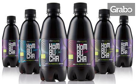6 бутилки био комбуча - микс от вкусове