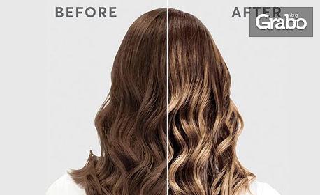 Детско, мъжко или дамско подстригване, боядисване, кичури, балеж или терапия за коса