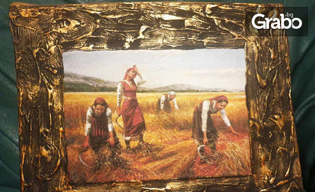 Дървена картина върху пано - с тематика по избор или снимка на клиента