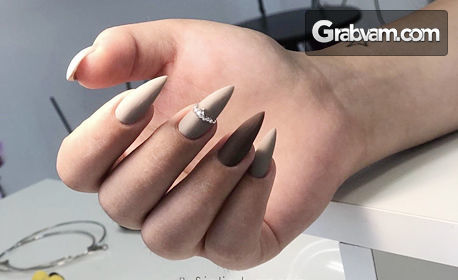 Ноктопластика с гел Crystal Nails и лакиране с гел лак, плюс първа поддръжка на ноктопластиката