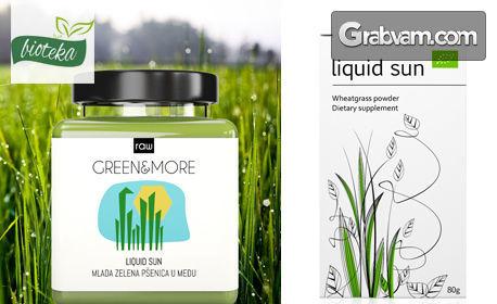100% био детокс и без излишни килограми с млада зелена пшеница Liquid Sun