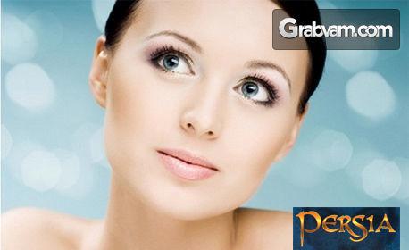 Козметичен масаж на лице, шия и деколте с лифтинг ефект, плюс пилинг и маска