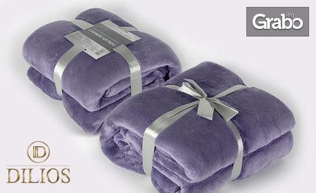 Кашмирена мекота! Единично одеяло в цвят праскова или лила