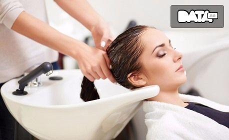 Възстановяща терапия за коса L'Oreal Profiber, плюс оформяне със сешоар