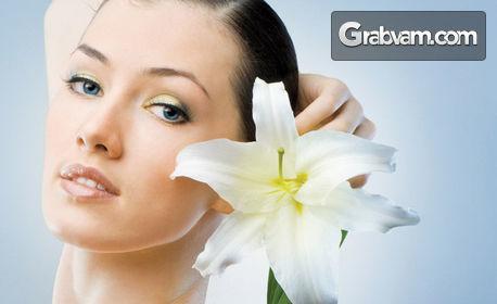 """Лифтинг терапия на лице """"Ледено вино"""" и био електростимулация - без или със аюрведичен лифтинг масаж с френска козметика Matis"""