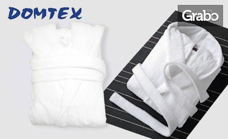 Бял халат от 100% памук - в размер по избор