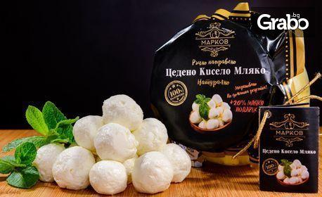 Мариновано цедено кисело мляко Марков - натурално, с червена чушка, с ябълка и канела или с киноа, сусам и чия