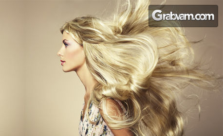 Възстановяваща терапия за коса, премахване на нацъфтели краища и изправяне със сешоар