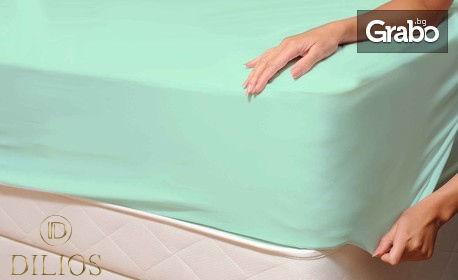 Чаршаф от 100% памучно трико с ластик - размер и цвят по избор