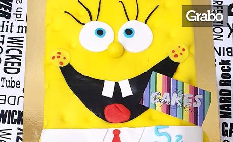 Детска торта за рожден ден - с фондан и крем по избор