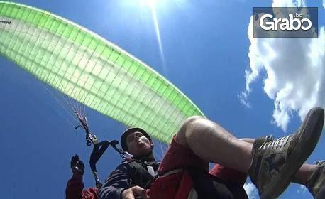 Тандемен полет с парапланер над Шуменското плато или Мадара, плюс HD заснемане