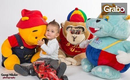 Детска или семейна коледна фотосесия в студио с 5 или 10 обработени кадъра