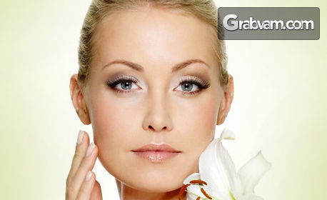 Водно дермабразио на лице, плюс дълбоко почистване, криотерапия и безиглена мезотерапия