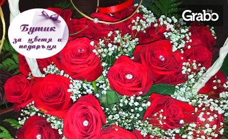 Букет от 101 рози, с безплатна доставка