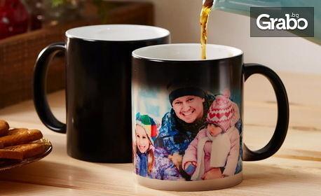 Магическа керамична чаша със снимка на клиента
