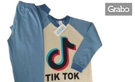 """Детска пижама """"Tik Tok"""" в размер и цвят по избор"""