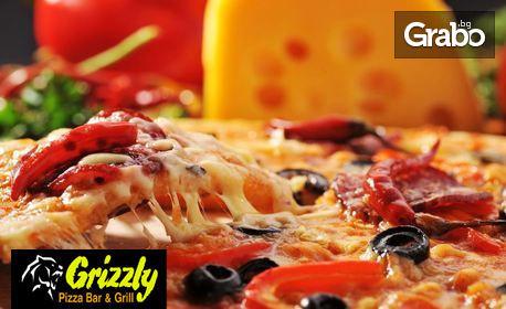 1 голяма пица, плюс палачинка, или 1 голяма семейна пица