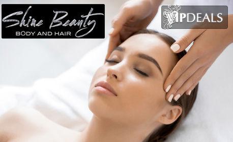 Пилинг маска и масаж на лице