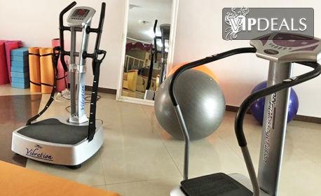 Тренировка с Power Plate, плюс VіbrоРlаtе Crazy Fit Massage или пресотерапия на цяло тяло
