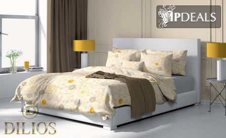 Единичен, двоен или макси спален комплект от ранфорс, в десен по избор
