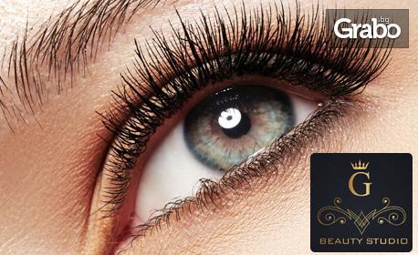 Поставяне на копринени или диамантени мигли - косъм по косъм, 3D или 5D