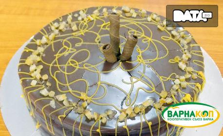 Бишкотена торта с вишни или шоколадова торта с портокалови корички