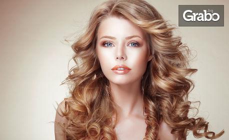 Кератинова терапия или боядисване с Fanola, без или със подстригване, или празнична прическа