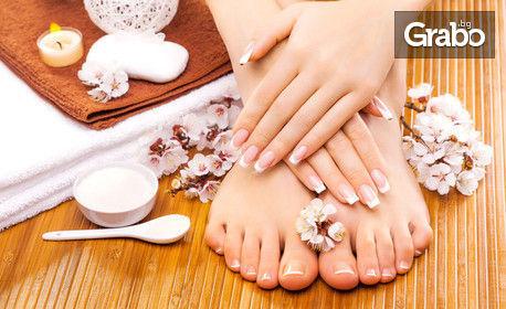Маникюр с лак или гел лак, педикюр с гел лак или поставяне на гел върху естествен нокът