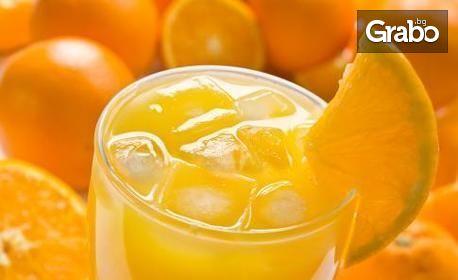 Чаша ароматно еспресо, фреш от портокал и палачинка по избор