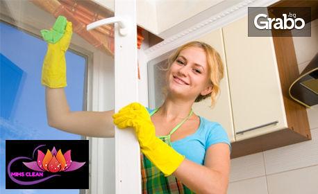 Двустранно измиване и полиране на прозорци и дограма в помещение до 100кв.м