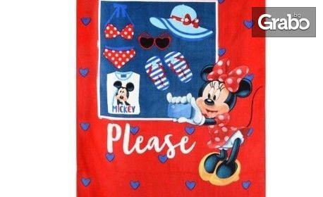 Детска плажна кърпа с красив дизайн - модел по избор