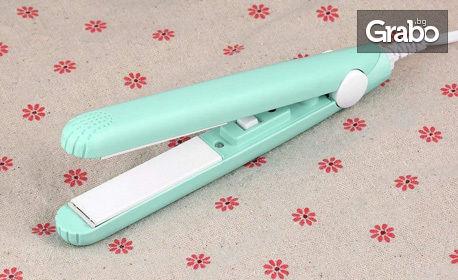Керамична мини преса Sapir за изправяне на коса
