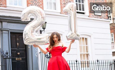 2 броя фолиеви балони във формата на цифри