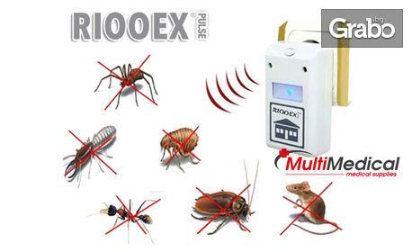 Ултразвуков уред против насекоми и гризачи Riooex Plus за площ до 200кв.м