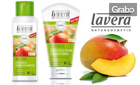 Натурална грижа за боядисана коса lavera - шампоан и балсам, без или със маска, с био манго и био авокадо
