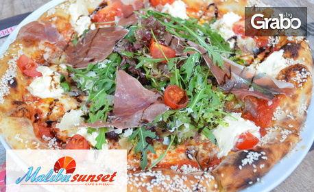 Хапни вкусно! Пица по избор, плюс десерт Бишкотино с маскарпоне