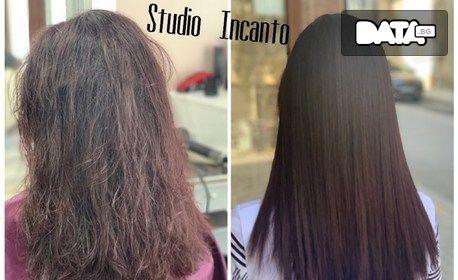 Терапия за екстремно възстановяване на боядисана коса Matrix Re-Bond, плюс изправяне - без или със подстригване