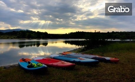 SUP-ер емоция в Панчаревското езеро! 1 час индивидуално обучение по гребане на SUP - за един или двама