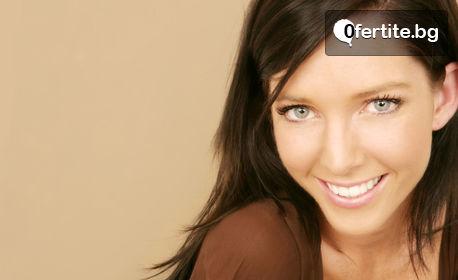 Почистване на лице с ултразвукова шпатула и микродермабразио или пилинг с фруктови киселини и фотодинамична терапия