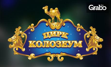 Цирк Колозеум в София през Октомври! Вход за спектакъл на дата по избор - в квартал Гео Милев